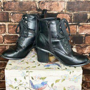 Bethany Mota Leather Granny Boots